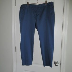 J Crew Skimmer Pants Blue City Fit